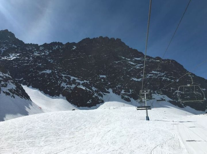 This is the Plateau chairlift at Portillo. Ever seen a steep plateau? Point taken, we hope.