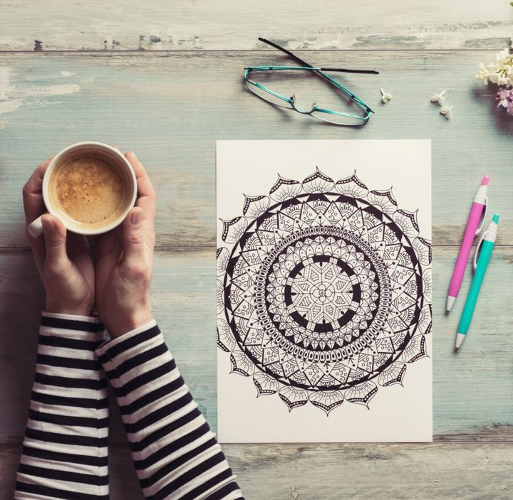 Colouring or drawing is also a relaxing, easy way to de-stress.
