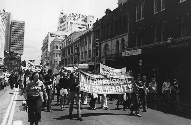 Homosexuals demonstrate in what would evolve into the Sydney Gay and Lesbian Mardi Gras,