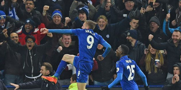 Jamie Vardy scored two in the win. His magic touch, absent so long this season, appears to be