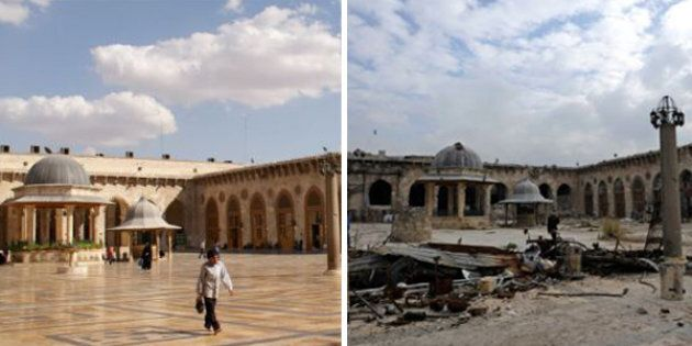 The before-and-after photos of Syria are