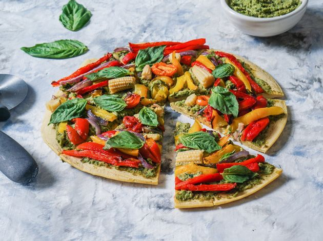 Tip: make your own pesto for your pizza
