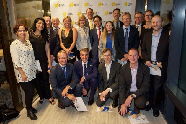 Fifteen grant recipients were celebrated on Wednesday night, pictured with Cancer Council CEO Jeff