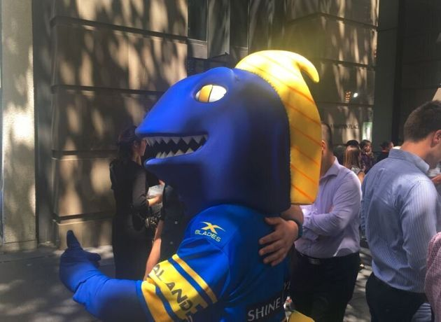 We took this shot at the 2017 NRL launch. Nothing disgraceful occurred, which is remarkable for anything...
