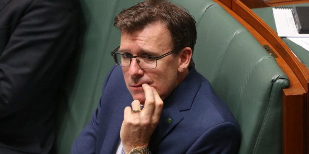 Minister Alan Tudge during question time at Parliament House in