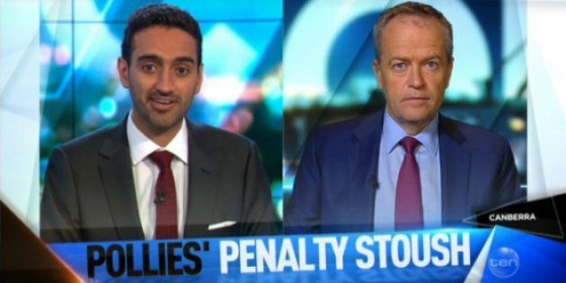Waleed pressed Bill Shorten on his position on cuts to penalty