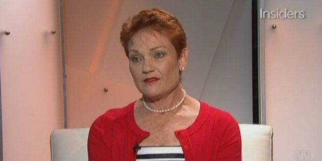 Pauline Hanson discussed vaccinations on 'Insiders' on Sunday, saying parents