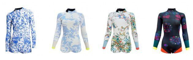 A selection of wetsuit designs from the current Surf &Swim