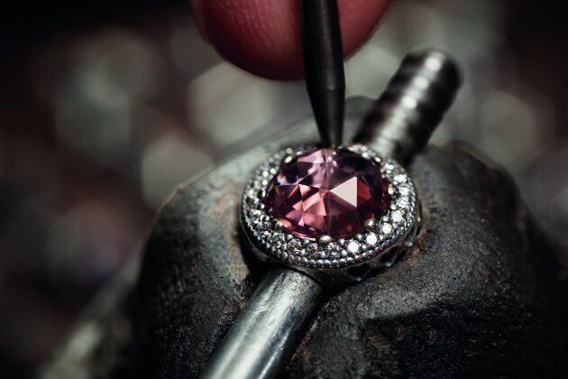Every single piece is hand-finished, while each and every stone is individually hand-set.