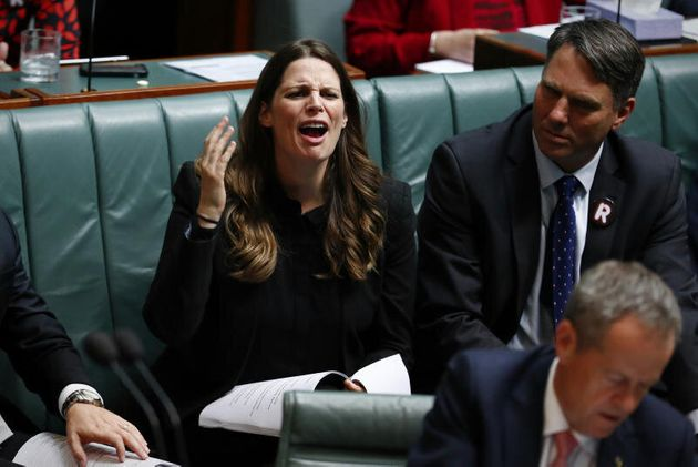Shadow Education Minister Kate Ellis can't believe what she is