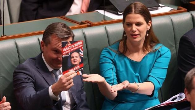 Shadow Treasurer Chris Bowen and Kate Ellis during question time on Monday 2 June May
