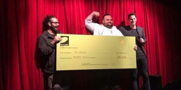 A.B. Original take out the AMP (and the big novelty cheque)
