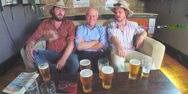 Malcolm Turnbull Sinks Beers With News Satirists The Betoota