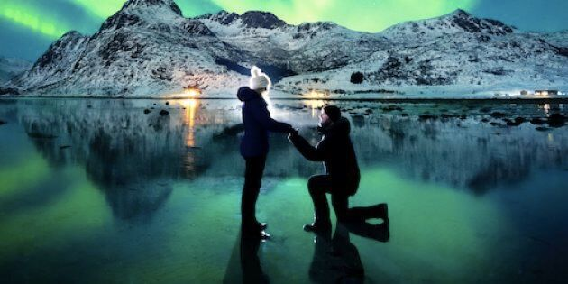 Dale placed a torch light behind them to illuminatethe shot and set the camera's self-timer.