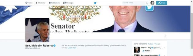 If Malcolm Roberts Supports Freedom Of Speech Why Did He Block Me On