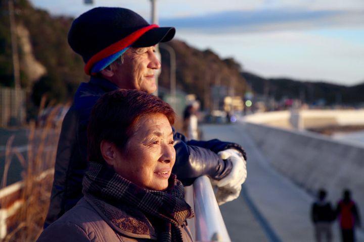 Shigeko Watanabe and her husband Takemasa.