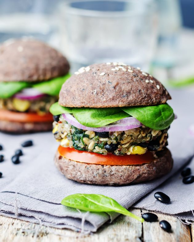 Go for a wholemeal burger bun and extra veggie