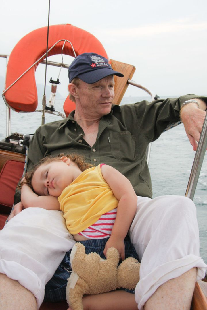 A tiring day out sailing on the South China Sea.