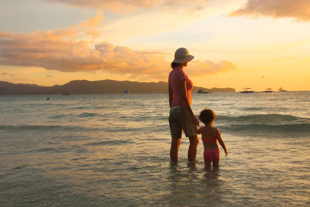 Sunset on Boracay, in the