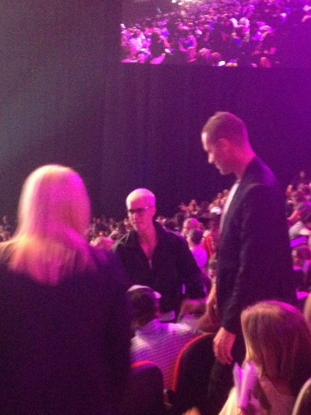Bieber attends Hill Song Colour Conference, which looks very colourful
