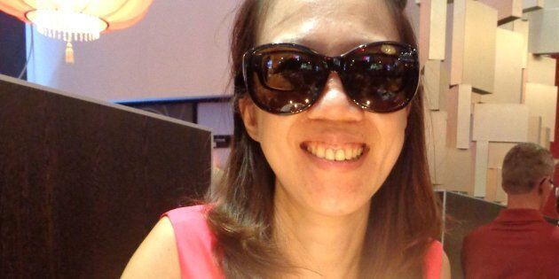 Patty Tsai Griffin, 39, has to wear sunglasses, even indoors, because of her