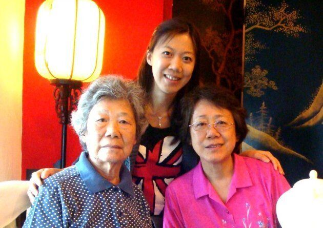 Patty with her mother and grandmother, who has since passed away. The three generations of women have...