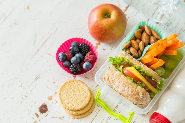 Prep a little snack box for when you're out and about.