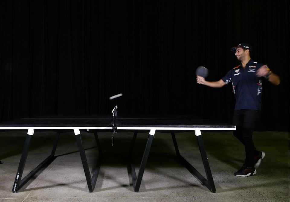 Daniel Ricciardo Missed The Start Of The F1 Grand Prix, So Let's Watch Him Play Ping Pong
