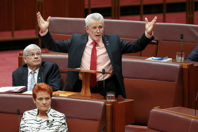 Malcolm Roberts and Pauline Hanson were in Sinodinos'