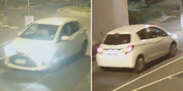 Footage has been released showing a white Toyota Yaris, believed to be a 2014 or later, which was seen...