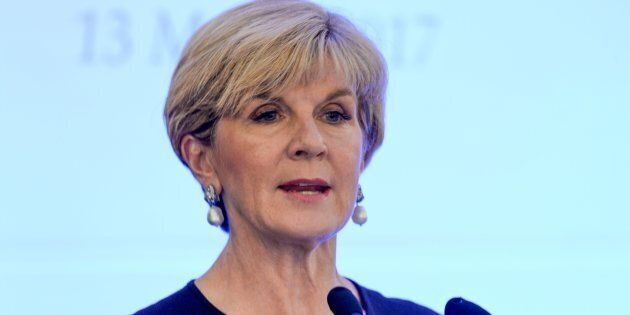 Julie Bishop says the US has not asked for extra help fighting IS in the middle