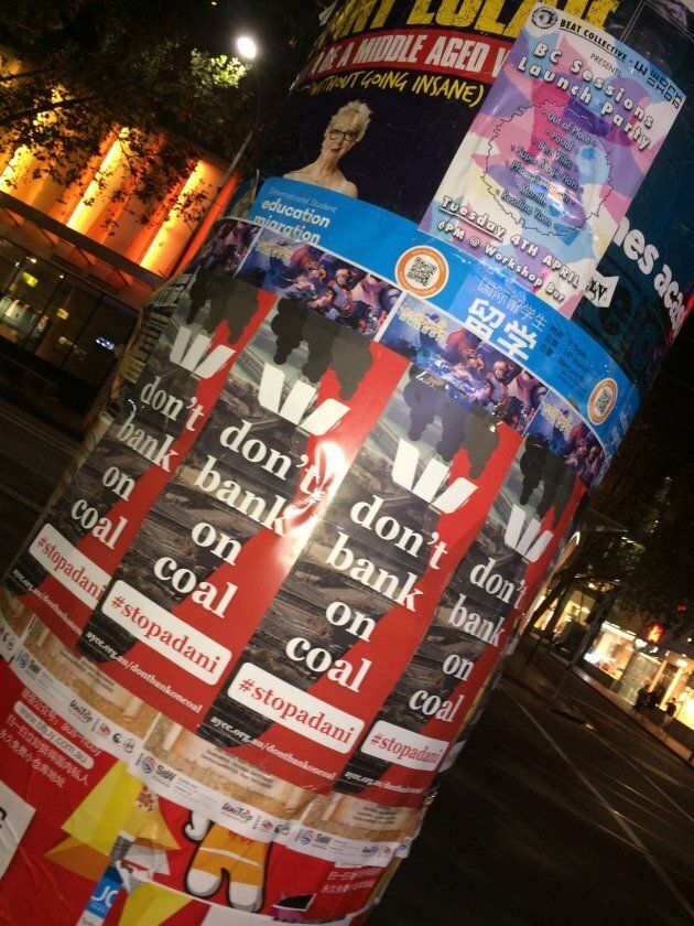 Posters in Melbourne putting pressure on Westpac
