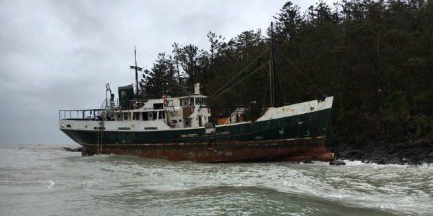The boat ran aground near Whitsunday