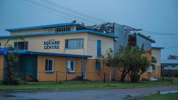 The town's Squash Centre was also badly