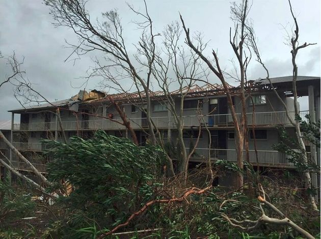 Buildings on Hamilton Island have been badly