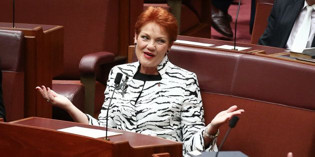 Pauline Hanson says far from being a racist, she's actually a racism victim