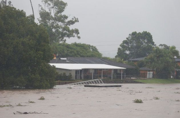 Floodwaters have reached north-eastern NSW in the wake of Cyclone