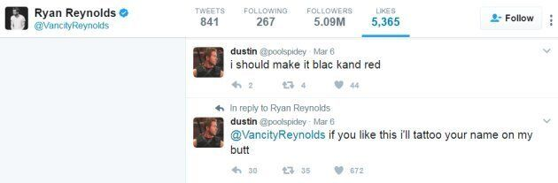 This Guy Got Ryan Reynolds' Name Tattooed On His