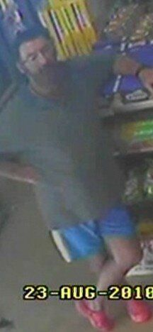 CCTV footage of a man police believe may be Graham Potter in a local shop in Griffith.