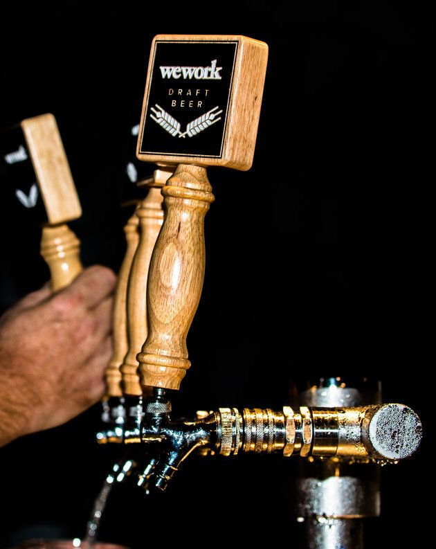At WeWork, beer is on tap.