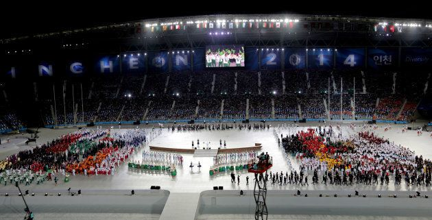 This was the Opening Ceremony of the 2014 Asian Games at Incheon, South Korea. Australia was not there, but we're looking to future ones.