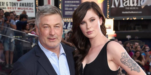 NEW YORK, NY - JULY 27:  Alec Baldwin and Ireland Baldwin attend the New York premiere of Mission: Impossible - Rogue Nation at the AMC Lincoln Square in Times Square on July 27, 2015 in New York City.  (Photo by Dimitrios Kambouris/Getty Images for Paramount Pictures)
