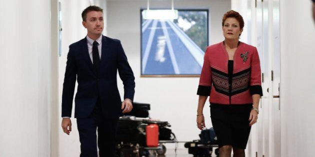 Senator Pauline Hanson and her Chief of Staff/adviser/pilot James