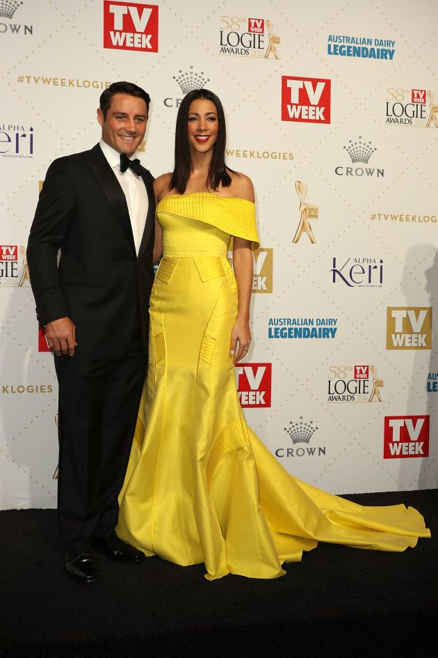 Cronk and Rushton at the 2016 Yellowgies.