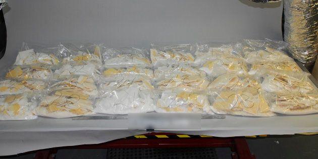903kg of the drug ice was found inside wooden floorboards.