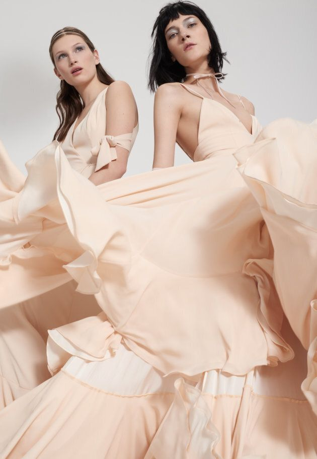 Blush-coloured bridesmaid dresses from the brand's new bridal offering.