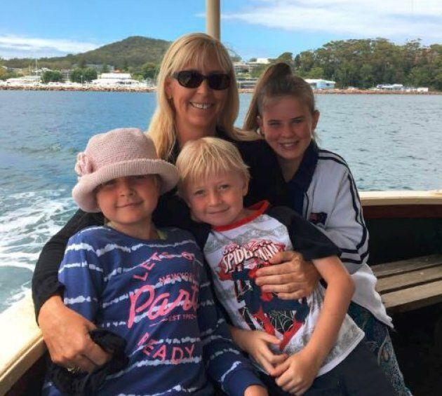 Stephanie King with her three children -- Chloe May, 8, Joseph, 7 and Ella Jane, 11. Chloe was the sole survivor of the Tweed River tragedy.