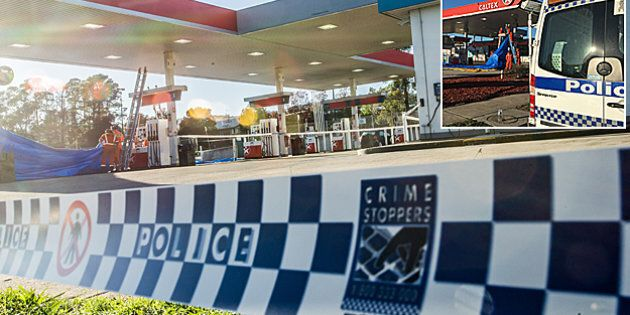 The Queanbeyan Caltex service station where a man was stabbed to death on Thursday. Photo by Karleen
