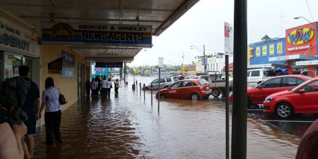 The flood situation is easing in the Queensland town of