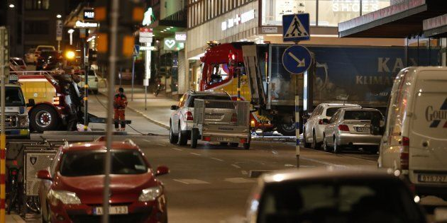 At least four people have died following a suspected terror-related truck attack in
